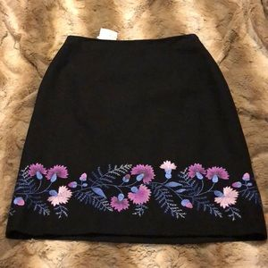 LOFT Skirts - Ann Taylor the Loft Embroidered Skirt